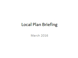 Local Plan Briefing