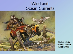 Wind and Ocean Currents