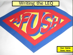 Writing the LEQ PowerPoint PPT Presentation