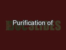 Purification of
