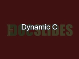 Dynamic C# - A New World of Possibilities PowerPoint PPT Presentation