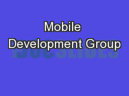 Mobile Development Group