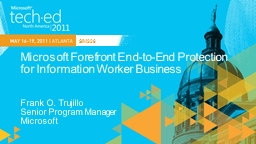 Microsoft Forefront End-to-End Protection for Information W