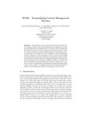 SCMS  Semantifying Content Management Systems AxelCyri