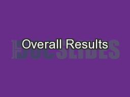 Overall Results PowerPoint PPT Presentation