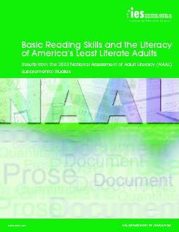 Basic Reading Skills and the Literacy of America's Least Literate PowerPoint PPT Presentation
