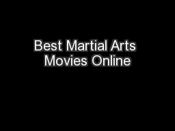 Best Martial Arts Movies Online