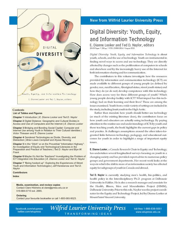 DigitalDiversity:Youth,Equity,andInformationTechnologyE.DianneLookeran
