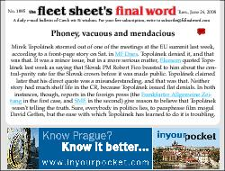 A daily e-mail bulletin of Czech wit & wisdom. For your free subscript
