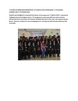 STUDENTS OF MRIM BEING MESMERISED  BY CAMPUS ADDA PROGRAMME