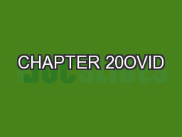 CHAPTER 20OVID