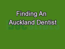 Finding An Auckland Dentist