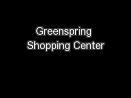 Greenspring Shopping Center