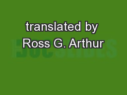 translated by Ross G. Arthur