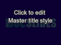 Click to edit Master title style