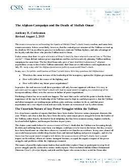 The Afghan Campaign and the Death