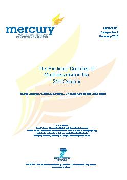 MERCURY E-paper No.3February 2010The Evolving 'Doctrine' of