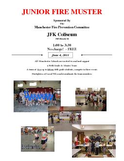 Manchester Fire Prevention Committee a Fifth Grade Jr. Muster Team A t