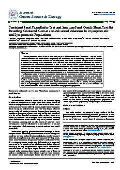 Volume 4(8) 243-248 (2012) - 243 J Cancer Sci Ther ISSN:1948-5956 JCST
