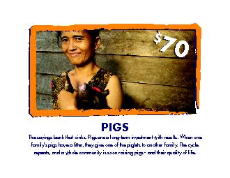 The savings bank that oinks. Pigs are a long-term investment with resu