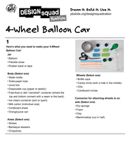 Wheel Balloon Car DOORRQ OHLEOHVWUDZ XEEHUEDQGRUWDSH D
