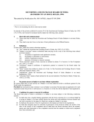 SECURITIES AND EXCHANGE BOARD OF INDIA BANKERS TO AN I