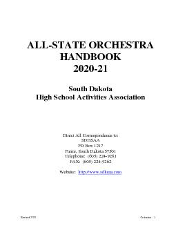 Revised 6/16OrchestraALLSTATE ORCHESTRAHANDBOOKSouth Dakota High Schoo PowerPoint PPT Presentation
