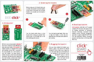 Introduction BEE click is an accessory board in mikro