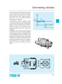 An overrunning clutch transmits rotary motiononly in one direction. It