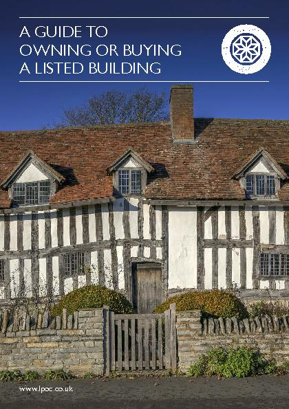 You may be thinking about buying a listed building, or you may already