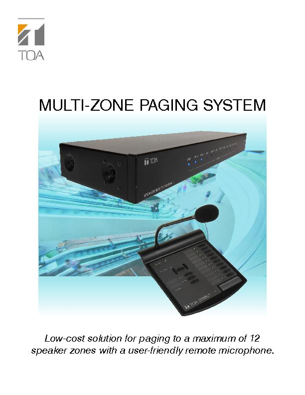 MULTI-ZONE PAGING SYSTEM
