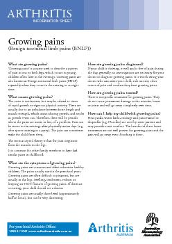 What are growing pains?'Growing pains' is a name used to des
