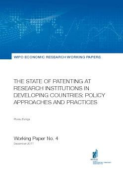 THE STATE OF PATENTING AT