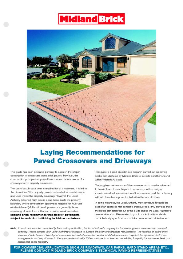 Paved Crossovers and Driveways