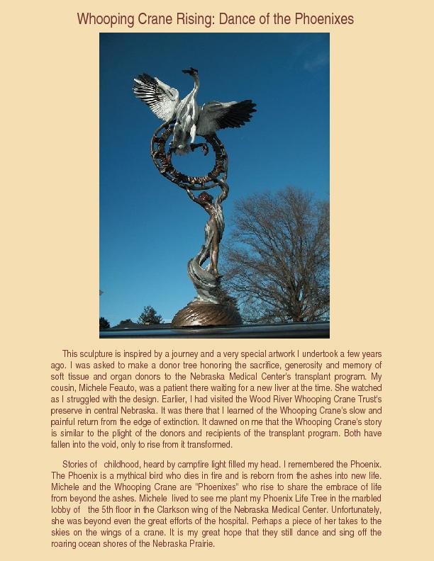 Whooping Crane Rising: Dance of the PhoenixesThis sculpture is inspire