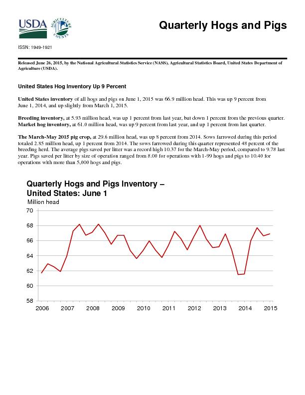 Quarterly Hogs and Pigs