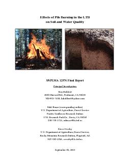 Effects of Pile Burning in the