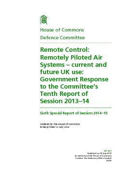 Published on 29 July 2014 by authority of the House of Commons London:
