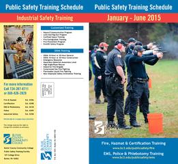 Public Safety Training Schedule Public Safety Training