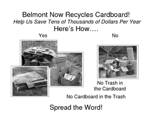 Belmont Now Recycles Cardboard Help Us Save Tens of Th