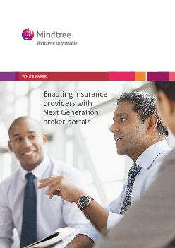 Enabling insurance providers with Next Generation broker portalsWHITE