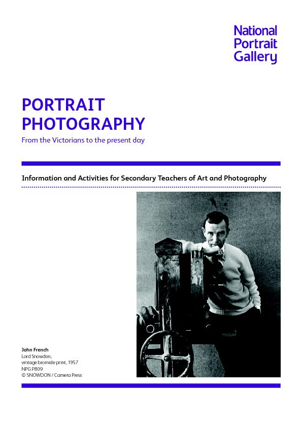 Information and Activities for Secondary Teachers of Art and Photograp