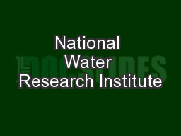 water quality research papers International journal of water research international journal of water research publishes refereed, original research papers on all aspects of the science and technology of water quality and its management worldwide.