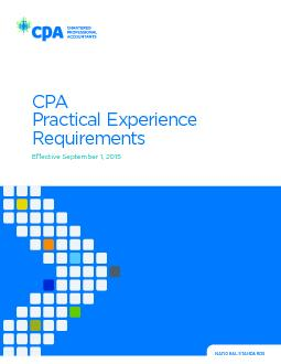 CPA Practical Experience Requirements 2.5.1.1.2Review stream (where ap