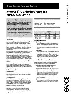 carbohydrate es hplc columns important safety