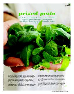 When Paolo Laboa discovered a potted Genovese-style basil plant at a s