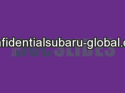 Confidentialsubaru-global.com