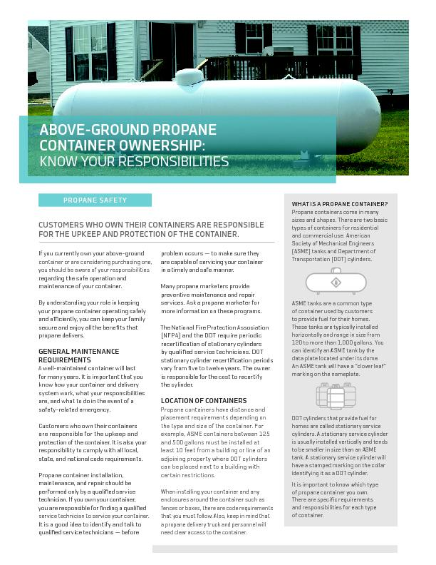 PAINTING YOUR CONTAINERPropane containers must be painted to help prev