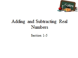 Adding and Subtracting Real Numbers