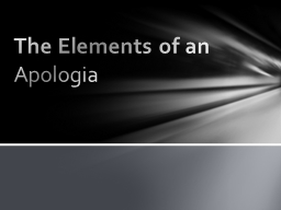 The Elements of an